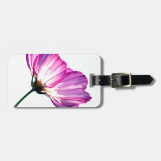 pink cosmos tag for luggage