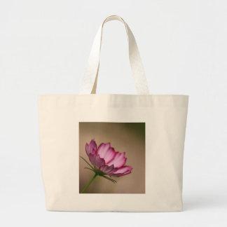 Pink cosmos picote Blossom Large Tote Bag