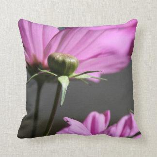 Pink Cosmos Summer days Pillow Throw Cushion