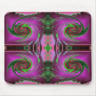 pink cosmos swirl mouse mats