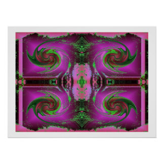 pink cosmos swirl poster