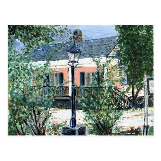 Pink Cottage on the River Postcard