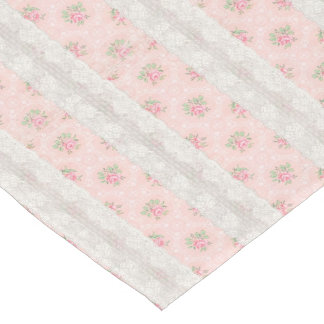 Pink Cottage Shabby Floral Table Runner
