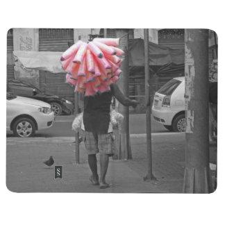 Pink cotton candy man journal