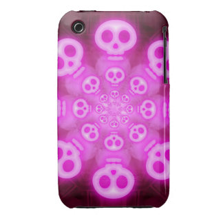 Pink Cotton Candy Skulls 3 iPhone 3 Covers