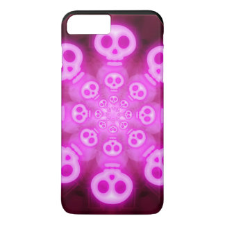 Pink Cotton Candy Skulls 3 iPhone 7 Plus Case
