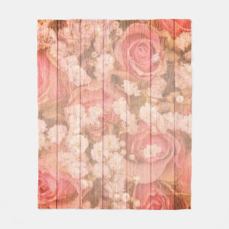 Pink Country chic design Fleece Blanket