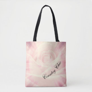 Pink Country chic design Tote Bag