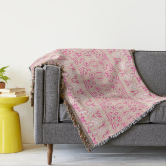 pink   cover throw blanket
