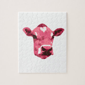 Pink cow jigsaw puzzle