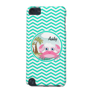 Pink Crab Aqua Green Chevron iPod Touch 5G Cover