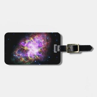 Pink Crab Nebula Luggage Tag