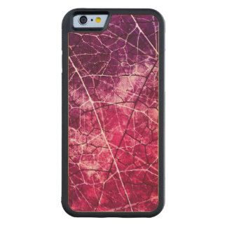 Pink Cracked Lacquer Pattern Grunge Texture Maple iPhone 6 Bumper Case