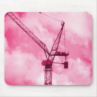 Pink Crane Mouse Pad