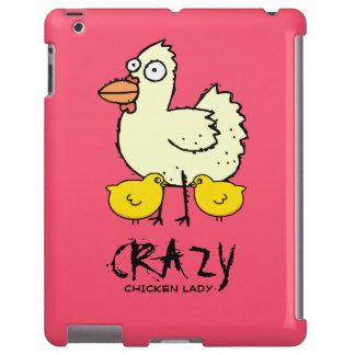 PINK Crazy Chicken Lady Cartoon Hen