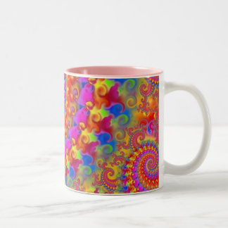Pink Crazy Fractal Mug