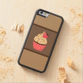 Pink Cream Brown Stripes Strawberry Cupcake Maple iPhone 6 Bumper Case