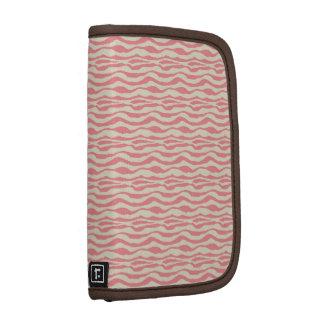 Pink cream zebra stripes Rickshaw folio planner