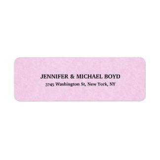 Pink Creative Retro Style Classical Family Sheet Return Address Label