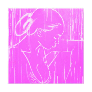 Pink Creole Rain - by Nazaire Canvas Print