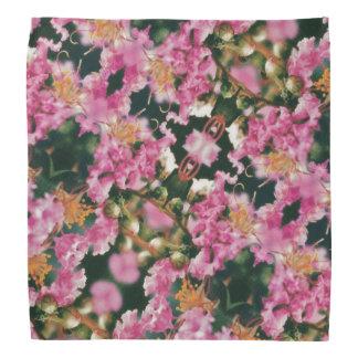 Pink Crepe Myrtle Kaleidoscope Bandana