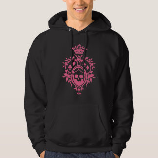 Pink Crest with Skull and Cardsuits Pullover