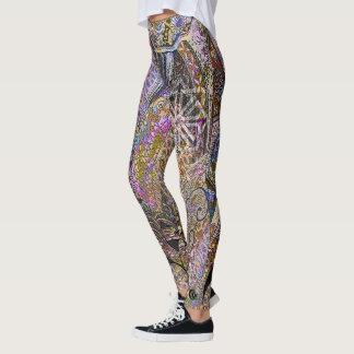 Pink Crests & Koi Scales Leggings