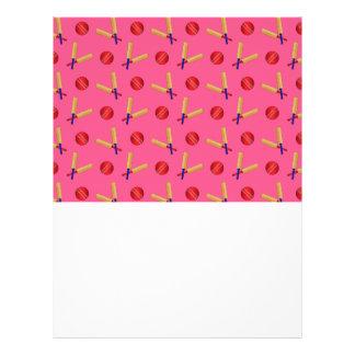 pink cricket pattern flyer design
