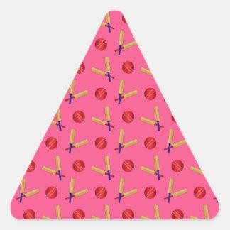 pink cricket pattern triangle sticker
