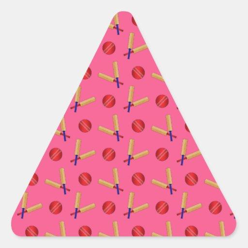 pink cricket pattern sticker
