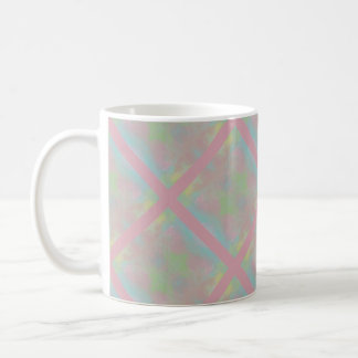 Pink Criss-Cross Coffee Mug