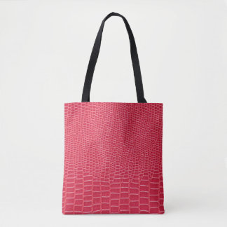 Pink Crocodile Print Tote