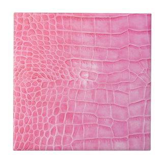 Pink crocodile tile