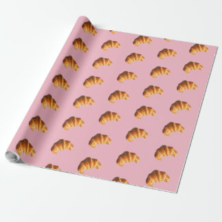 Pink Croissant Wrapping Paper