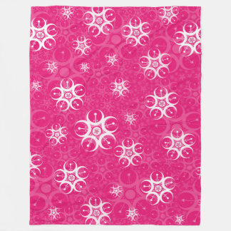 Pink Crop Circle Fleece Blanket