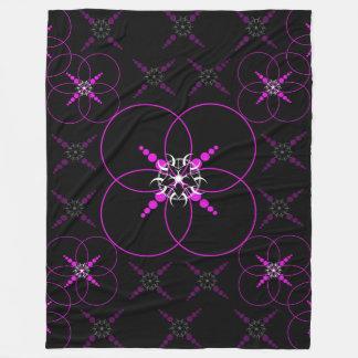 Pink Crop Circles Fleece Blanket