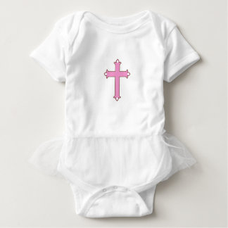 Pink Cross, Baby Tutu Bodysuit