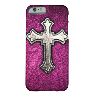 Pink Cross Barely There iPhone 6 Case