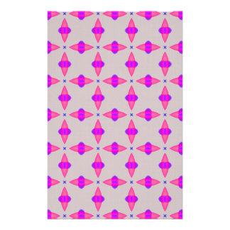 Pink Cross Pattern Scrapbook Paper Custom Stationery