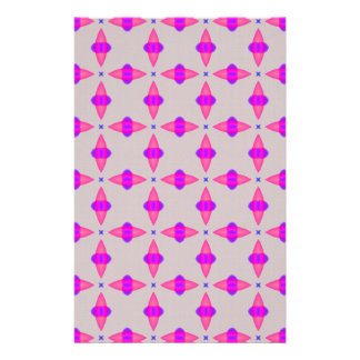 Pink Cross Pattern Scrapbook Paper Stationery Design