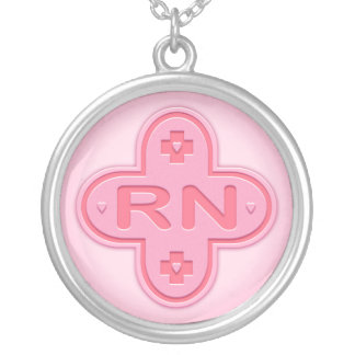 Pink Cross Silver Plated Necklace