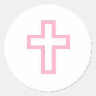 """Pink Cross"" Stickers"