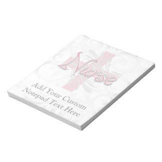 Pink Cross/Swirl Nurse Notepad