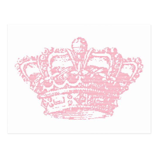 Pink Crown Postcard