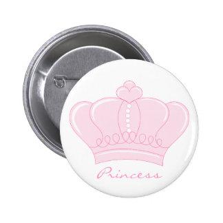 Pink Crown - Princess 6 Cm Round Badge