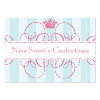 Pink Crown Sweet Shop Large Business Card Template