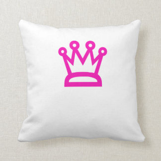 Pink Crown Throw Pillow