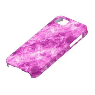 Pink Crumpled Texture iPhone 5 Cover