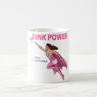 Pink Crusader Breast Cancer Hero Mug Design 2