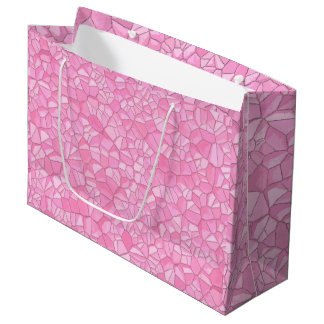Pink crystal Gift Bag - Large, Glossy